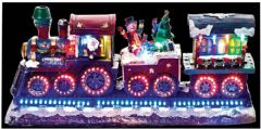 PREMIER MB093590  40Cm Xmas Train W-Rotating Led Wheels